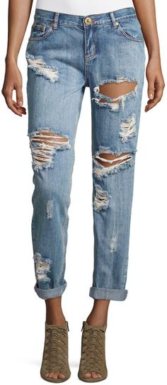 One Teaspoon Mid-Rise Baggie Boyfriend Jeans, Cobain Click on the pic to shop! #denim #jeans #style #fashion #sale