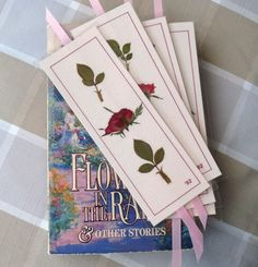 Pressed Flower Bookmarks real roses by PatsysPressedFlowers Pressed Roses, Drying Roses, Dried Rose Petals, How To Make Bookmarks, Pink Paper, How To Preserve Flowers, Business Gifts, Nature Crafts, Surprise Gifts