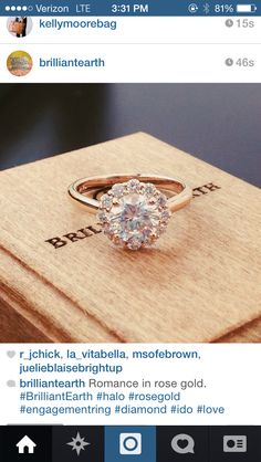 Man. I LOVE Brilliant Earth diamonds. They are fair trade and all sorts of gorgeous. I NEED THIS RING. Maybe I need a guy first though.