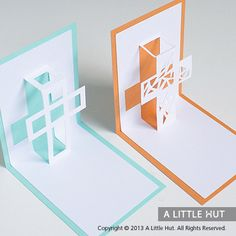 Crosses pop-up cards, spring, easter, cross, baptism, first communion
