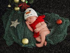 Newborn Boy Snowman with Scarf  Ready to Ship by boykrazie on Etsy, $30.00