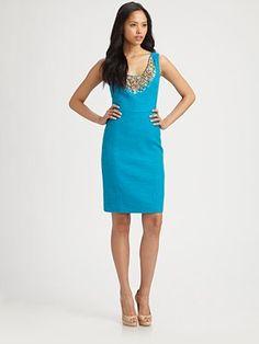 Milly  Kaylee Beaded Linen Dress