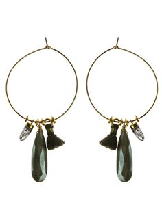 """Beautiful, feminine gemstone tassel hoops are sure to please in either 14k gold fill or sterling silver. Our 1.75"""" diameter Allure Royalty Hoop earrings are adorned with tassels and gemstones.  #Nashelle #NashelleJewelry #AllureCollection #Fashion #FashionFeedingHunger #Charity #FeedingAmerica #GiveBack #Love #Jewelry #Custom #WhoWhatWear #PNWStyle #LiveAuthentic #Dazzling #Divine #Love"""