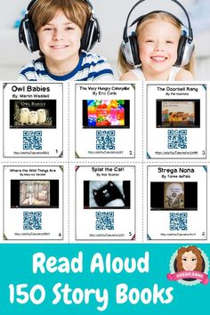 Interactive Read Aloud Cards. Enjoy 150 Read Aloud Picture Books. Perfect for reluctant readers and a great reading intervention resource. All links are ad free and created via SafeTube or Safe Share. Range of stories to read aloud, all of which are perfect for home libraries and classroom libraries. #readaloud #listeningcenter #listeningpost #literacyrotations #ELA #storytimereadaloud #picturebooksonline #tpt #sarahannescreativeclassroom #youtube #onlinestories #storylineonline #picturebook Reading Response, Reading Intervention, Learning Activities, Teaching Resources, Teaching Ideas, Interactive Read Aloud, Reluctant Readers, Reading Stories, Beginning Of The School Year