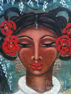 Lady Soo Chi Painting by Maya Telford - Lady Soo Chi Fine Art Prints and Posters for Sale fineartamerica.com #mayatelford #fineart #fineartamerica