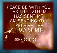 John 20:21-22 Receiving The Holy Spirit, Gospel Of John, Father, 21st, Peace, Books, Pai, Livros, Libros