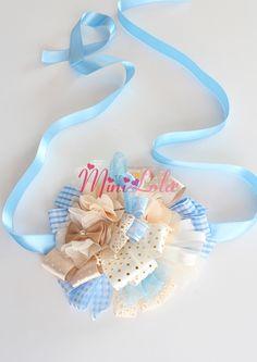 Mavi karışık renkli kurdela süslemeli dantelli fiyonklu hamile kemeri Minilola Anne, Bebek, Çocuk Ürünleri