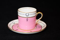 Antique Pink Aynsley Demi Tasse Tea Cup and by TeaAtTheBrits