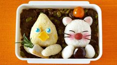 How to Make FINAL FANTASY Bento Lunch Box (Chocobo and Moogle) Recipe ファ...