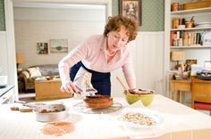 """For """"Julie & Julia,"""" Meryl Streep said, she based her portrayal of chef-de-TV Julia Child partly on her own mother, who had """"an undeniable sense of joie de vivre"""" - and a tenuous relationship with the Chocolate Almond Cake, Almond Cakes, Chocolate Cakes, Delicious Chocolate, Meryl Streep, Julie E Julia, Bon Appetit, Julia Child Cookbook, Food Film"""