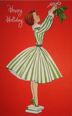 She's hanging mistletoe.!...* 1500 free paper dolls including Christmas dolls international artist and author Arielle Gabriel's The International Paper Doll Society for my Pinterest paper doll pals *