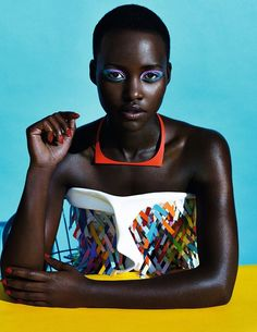 Free spirit Lupita Nyong'o Hussein Chalayan and Dior necklace