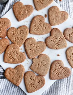 Homemade Graham Cracker Conversation Hearts @themerrythought