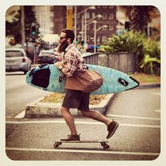Harder to do with a longboard, but will have to give it a try...