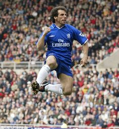 Chelsea Legend Gianfranco Zola - voted the best Chelsea player of all time in 2003!  Love to see pics like this on Pinterest - for relatively new fans like me, it gives me an opportunity to learn more about Chelsea history. :-)