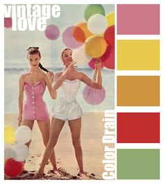 This palette along with the rest of my color palettes are free for anyone to use. This palette uses shade. Vintage Colour Palette, Colour Pallette, Colour Schemes, Color Combinations, Vintage Love, Vintage Colors, Hue Color, Colours, Design Seeds
