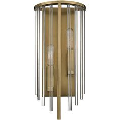 """Hudson Valley Lewis 15"""" High Aged Brass Wall Sconce ($195) ❤ liked on Polyvore featuring home, lighting, wall lights, sconces, antique brass lighting, antique brass wall lights, hudson valley lighting, geometric lamp and drum lights"""