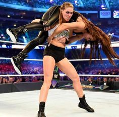 The official home of the latest WWE news, results and events. Get breaking news, photos, and video of your favorite WWE Superstars. Ronda Rousey Wwe, Ronda Jean Rousey, Rowdy Ronda, Catch, Nxt Divas, Ufc Women, Stephanie Mcmahon, Wwe Wallpaper, Charlotte Flair