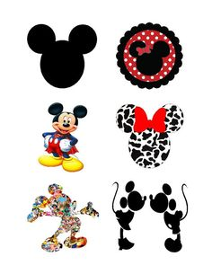INSTANT DOWNLOAD Iron on  6 Minnie Mickey by SAVVYCOUNTRYDESIGNS