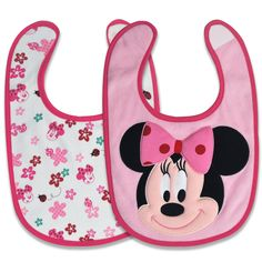 MINNIE MOUSE 2-Pack Bibs #DisneyBabyPackNPin