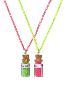 Bff jewelry from justice Bff Necklaces, Best Friend Necklaces, Best Friend Jewelry, Friendship Necklaces, Friend Rings, Girls Jewelry, Cute Jewelry, Jewelry Shop, Fashion Jewelry