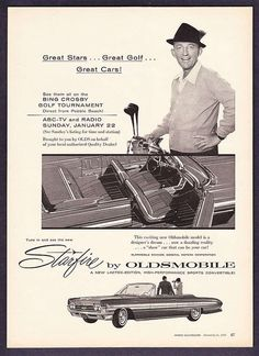 Bing Crosby drives the 1961 Oldsmobile Starfire Convertible