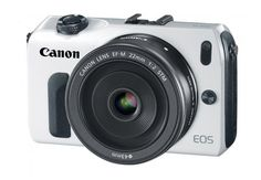 Canon EOS M w/EF-22mm f/2 STM Pancake Lens GOODNESS!  Might have to be my bday present to myself!