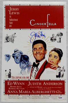JERRY LEWIS Signed CINDERFELLA Movie Poster 11x17 Photo PSA/DNA COA AUTOGRAPH