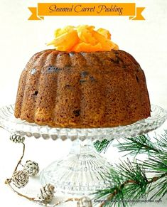 Rum-soaked raisins combine with carrots, potatoes, and spices to make a flavorful steamed carrot pudding that is perfect with brown sugar or eggnog sauce. Steamed Carrot Pudding Recipe, Potato Pudding, Pudding Recipes, Dessert Recipes, Christmas Pudding, Christmas Baking, Christmas Cakes, Christmas Treats, Christmas Recipes