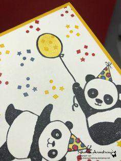 Party Pandas Wishing Happy Birthday! - TX Stampin' Sharon
