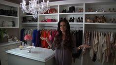 kyle richards closet = what a smart idea to put the shoe shelves above !