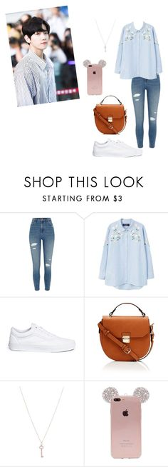 """baekhyun #Exo"" by vivi-mattw-carvalho on Polyvore featuring beauty, River Island, MANGO, Vans and Tiffany & Co."