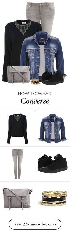 """Simple trendy"" by kamkami on Polyvore featuring Hallhuber, Yves Saint Laurent, maurices, Converse and GUESS"