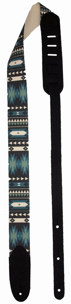 "Southwestern-inspired designs in an incredibly comfortable, strong, and stylish guitar strap - The center sections of guitar straps are made from light yet durable 2"" wide cotton - Deep dyed multi-col"
