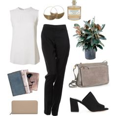 Untitled #454 by the59thstreetbridge on Polyvore featuring moda, Eileen Fisher, By Malene Birger, Maryam Nassir Zadeh, Clare V., Tammy & Benjamin, Lila Rice and Library of Flowers