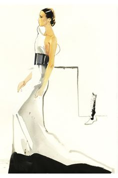 David Downton blog - Couture Week in Paris was a neutral affair - Illustrations (Vogue.com UK)