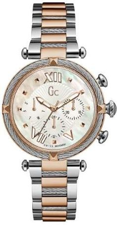GUESS Women s Gc Two-Tone Multifunction Timepiece Tono 8ad7e305ca9