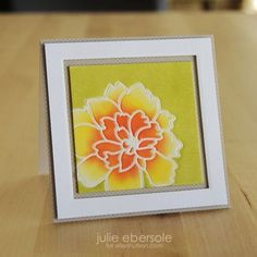 Die Cut Impression Embossing technique by Julie Ebersole