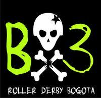 Roller Derby Colombia, Bogota Bone Breakers Team viewed from Roller Derby Colombia Roller Derby, Roller Skating, Contact Sport, Team Logo, Train, Colombia, Strollers
