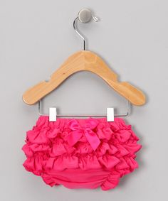 Take a look at this Hot Pink Ruffle Diaper Cover - Infant on zulily today!