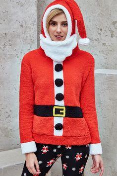 Santa Clause Plush Hoodie