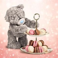 3D Holographic Bear And Cakes Me to You Birthday Card  £2.99