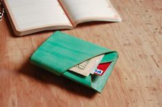 Unique and Fashionable minimalist leather fanny pack, wallet, portfolio, credit card holder handmade at UnimiStore.com