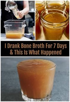 One of our editors decided to drink bone broth every day for 7 days. Here's what happened. Science tells us that bone broth is one of the best superfoods in the world - but what happens after I drink it for 7 days in a row? Best Bone Broth Recipe, Chicken Bone Broth Recipe, Homemade Bone Broth, Bone Broth Smoothie, Bone Broth Soup, Drinking Bone Broth, Making Bone Broth, Chimichurri, Gazpacho