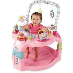 Pink Baby Infant Bouncer Girls Activity Seat Chair Excersaucer Exersaucer Toy | eBay