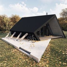 Describe this Cabin in ONE word! The Woodland Cabin The Cabin is designed and visualized by and is being built in Hampshire, United Kingdom Wood Interior Design, Exterior Design, Cabin Design, Modern House Design, Renovation Design, Haus Am Hang, Casas Containers, A Frame House, Wooden Cabins