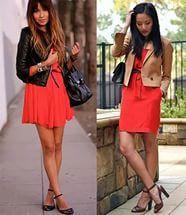 С чем носят красные платья.
