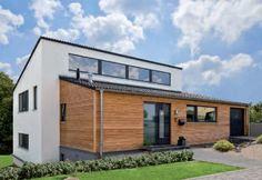 Neubau   Holzrahmenbau Fertighaus Hanglage