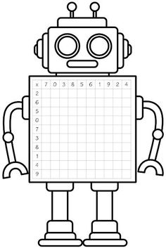 Number knowledge grid for multiplication. Free and printable from Classroom Trea… Number knowledge grid for multiplication. Free and printable from Classroom Treasures. Kids Math Worksheets, Math Resources, Math Activities, Multiplication Grid, Robot Classroom, Third Grade Math, Homeschool Math, Math For Kids, Numeracy