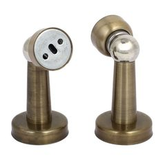 Home Office Metal Door Stopper Magnetic Catches Bronze Tone 43Mmx76Mm 2Pcs